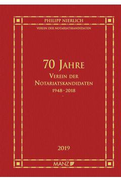 70 Jahre Verein der Notariatskandidaten 1948-2018
