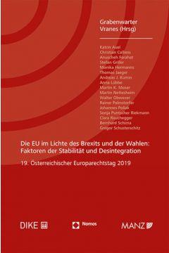 Die EU im Lichte des Brexits und der Wahlen Europarechtstag 2019