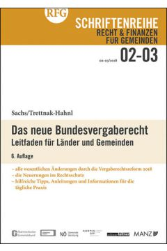 Das neue Bundesvergaberecht 6. Auflage