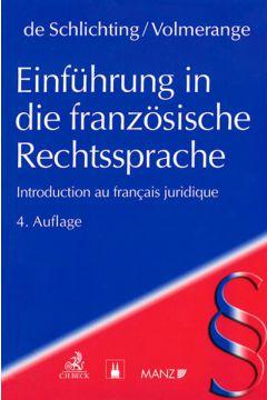 Einführung in die französische Rechtssprache