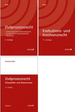 PAKET: Zivilprozessrecht 3.Auflage+ Zivilprozessrecht Schaubilder und Aktenmuster 13.Auflage+ Exekutions-und InsolvenzR 11.Auflage