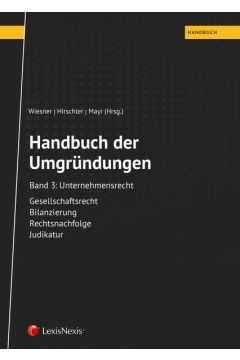 Handbuch der Umgründungen, Band 3