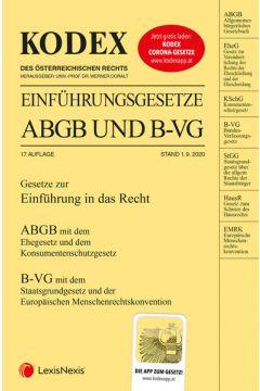 KODEX Einführungsgesetze ABGB und B-VG 2020/21