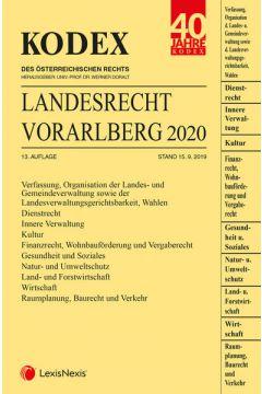KODEX Landesrecht Vorarlberg 2020