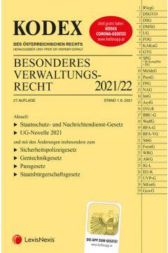 KODEX Besonderes Verwaltungsrecht 2021/22 - inkl. App