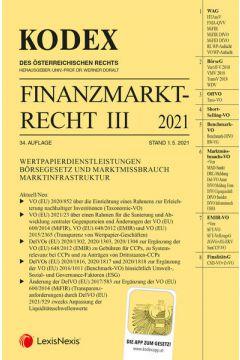 Kodex Finanzmarktrecht Band III 2021