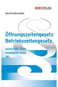 Öffnungszeitengesetz - Betriebszeitengesetz