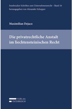 Die privatrechtliche Anstalt im liechtensteinischen Recht