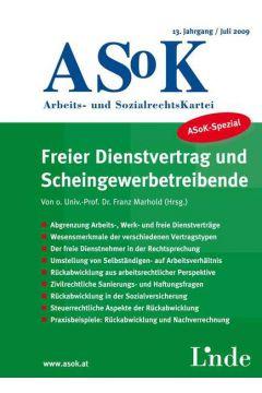 ASoK-Spezial Freier Dienstvertrag und Scheingewerbetreibende