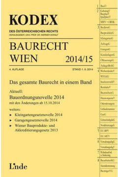 KODEX Baurecht Wien 2014/15