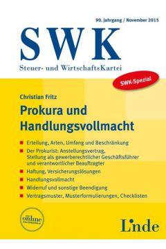SWK-Spezial Prokura und Handlungsvollmacht