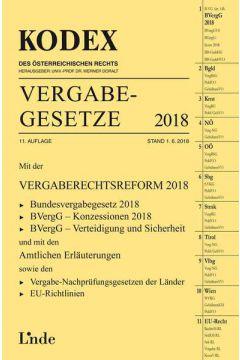 KODEX Vergabegesetze 2018