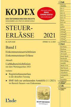 KODEX Steuer-Erlässe 2021, Band I