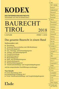 KODEX Baurecht Tirol 2018