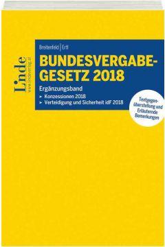 Bundesvergabegesetz 2018 - Ergänzungsband