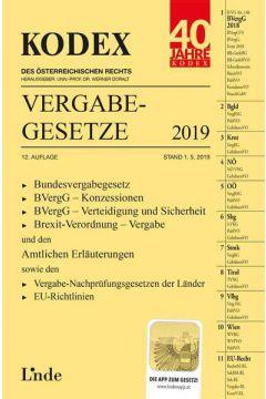 KODEX Vergabegesetze 2019