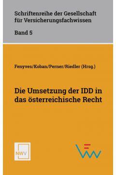 Die Umsetzung der IDD in das österreichische Recht