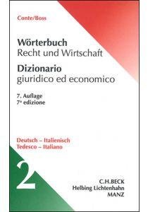 Wörterbuch Recht und Wirtschaft Deutsch - Italienisch