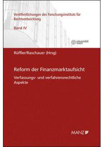 Reform der Finanzmarktaufsicht