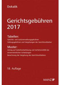 Gerichtsgebühren - 2017