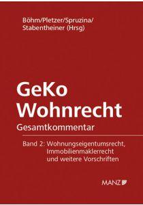 GeKo Wohnrecht Gesamtkommentar Band 2