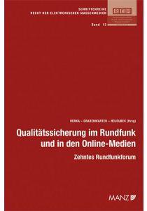 Qualitätssicherung im Rundfunk und in den Online-Medien