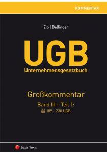 UGB Unternehmensgesetzbuch Kommentar - Band 3/Teil 1