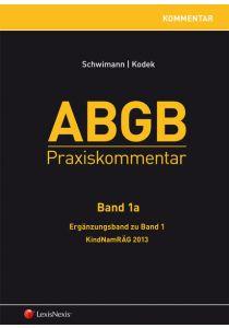 ABGB Praxiskommentar - Band 1a, Ergänzungsband zu Band 1