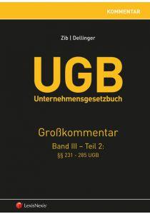 UGB Großkommentar / UGB Unternehmensgesetzbuch Kommentar - Band III/Teil 2