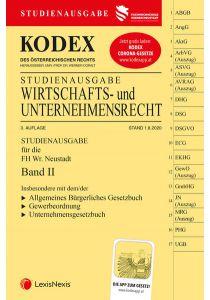 KODEX Wirtschafts- und Unternehmensrecht 2020 Band II