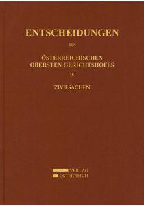 Entscheidungen des Österreichischen Gerichtshofes in Zivilsachen