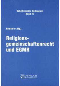 Religionsgemeinschaftenrecht und EGMR