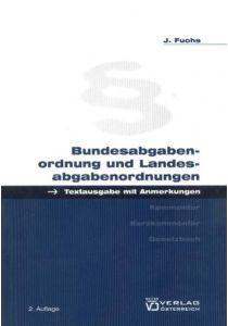Bundesabgabenordnung und Landesabgabenordnungen