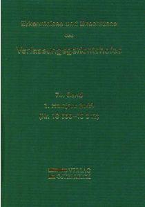Erkenntnisse und Beschlüsse des Verfassungsgerichtshofes