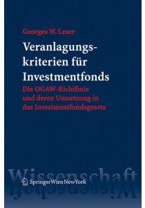 Veranlagungskriterien für Investmentfonds