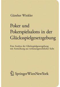 Poker und Pokerspielsalons in der Glücksspielgesetzgebung