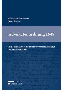 Advokatenordnung 1648