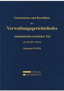 Erkenntnisse und Beschlüsse des Verwaltungsgerichtshofes