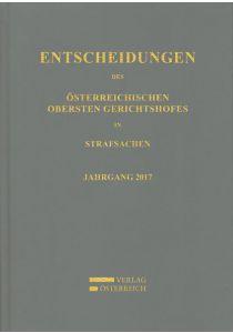 Entscheidungen des Österreichischen Obersten Gerichtshofes in Strafsachen