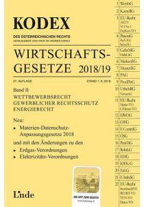 KODEX Wirtschaftsgesetze Band II 2018/19
