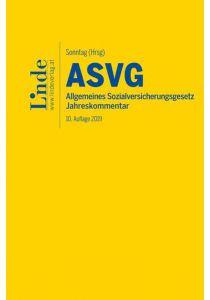 ASVG | Allgemeines Sozialversicherungsgesetz 2019