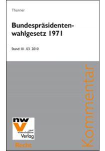Bundespräsidentenwahlgesetz 1971, BP-WG
