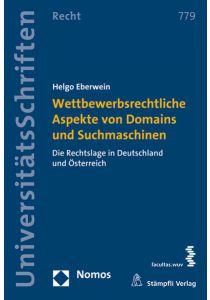 Wettbewerbsrechtliche Aspekte von Domains und Suchmaschinen