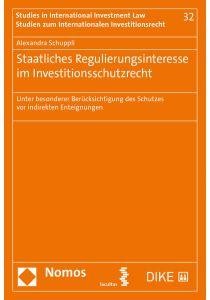 Staatliches Regulierungsinteresse im Investitionsschutzrecht