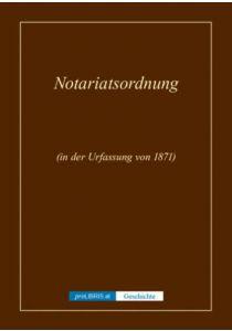 Notariatsordnung - Geschichte