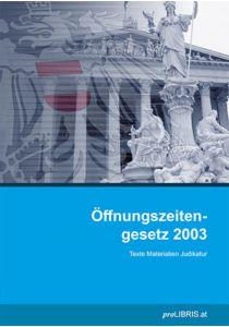 Öffnungszeitengesetz 2003